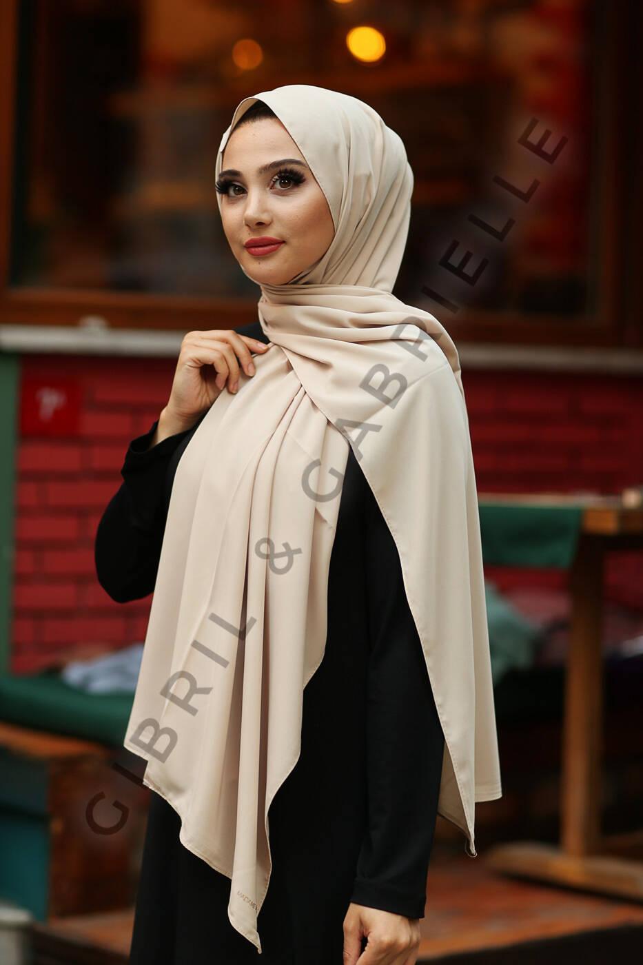 Gibril & Gabrielle - Madina Silk Hijab - Ivory