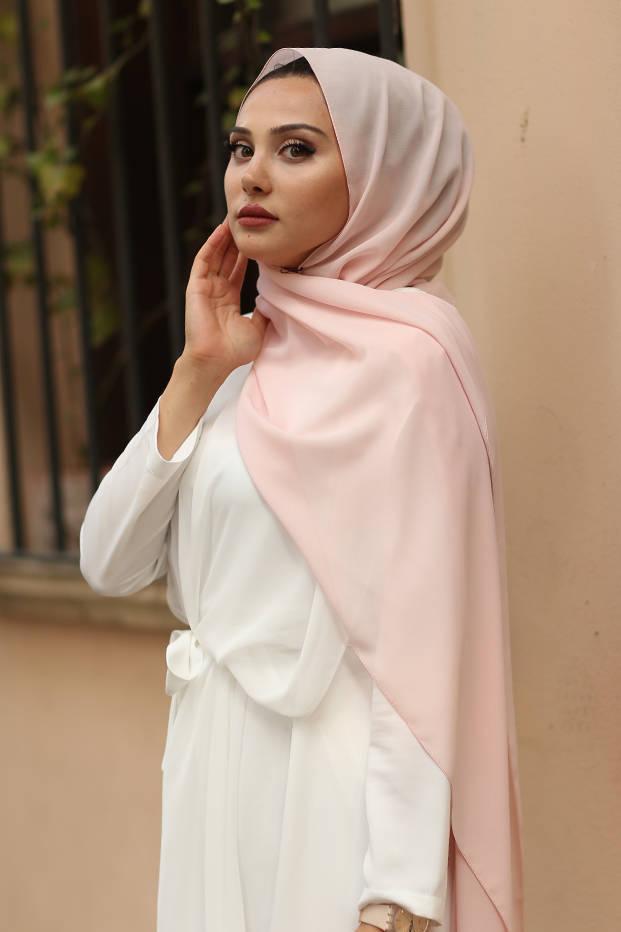 Gibril & Gabrielle - Madina Silk Hijab - Powder Pink