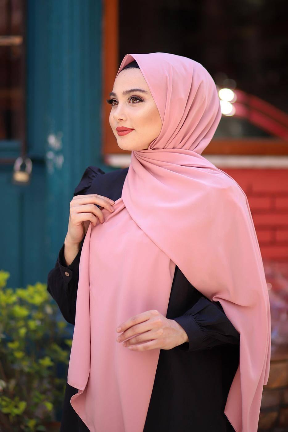 Madina Silk Hijab - Rose