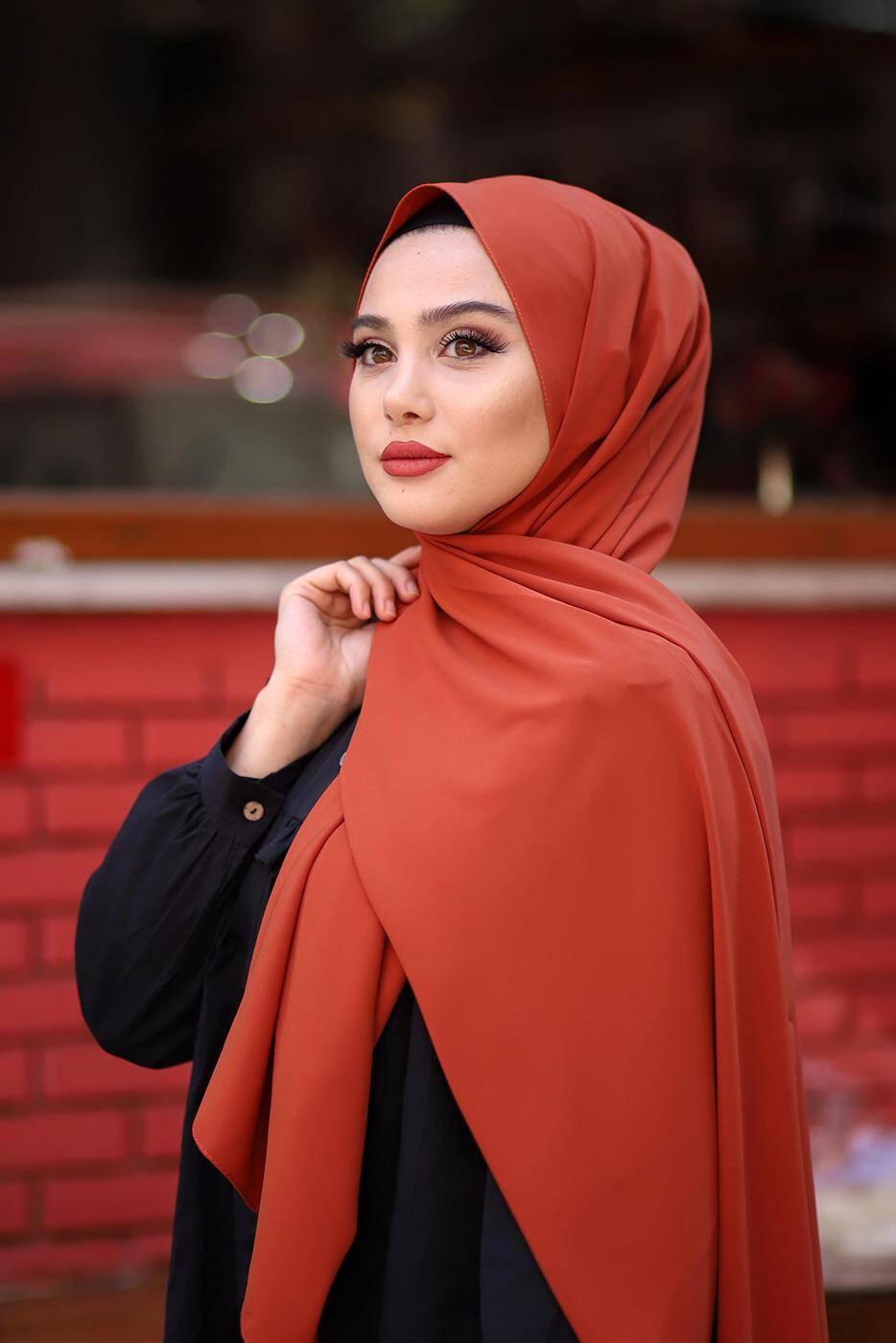 Gibril & Gabrielle - Madina Silk Hijab - Saffron