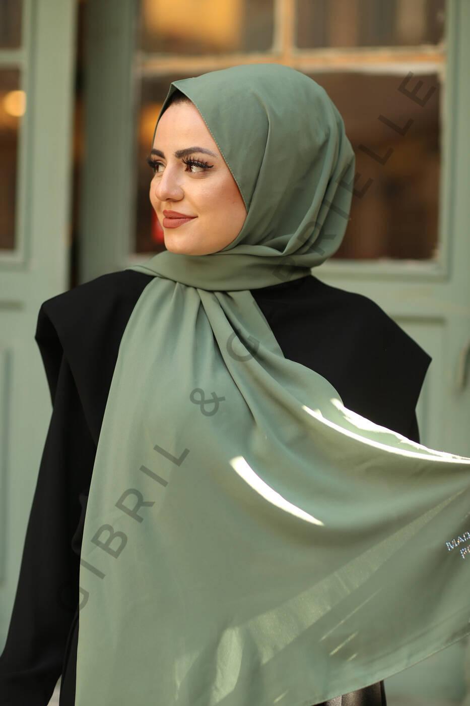 Gibril & Gabrielle - Madina Silk Hijab - Sage