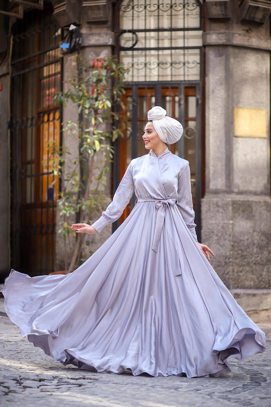 Mennel Dress - Silver