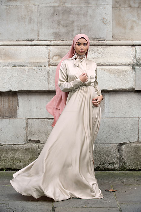 Mennel Dress - Stone Beige