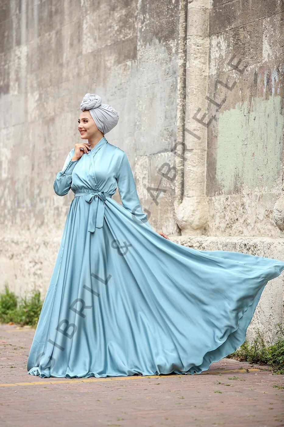 Gibril & Gabrielle - Mennel Dress - Turquoise Blue