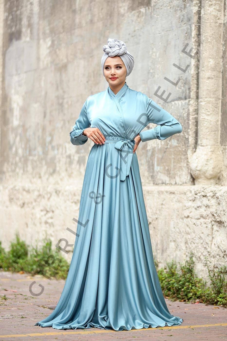 Mennel Dress - Turquoise Blue