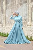 Mennel Dress - Turquoise Blue - Thumbnail