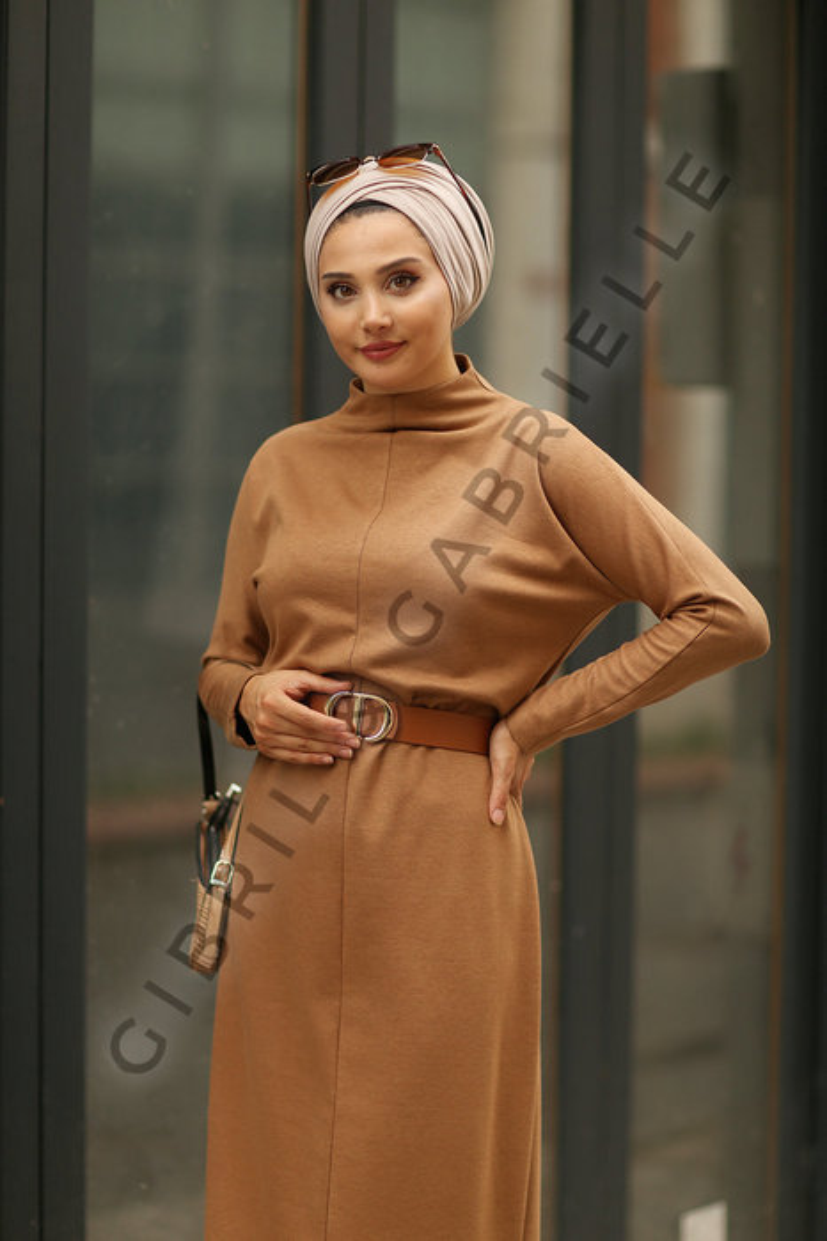 Mila Camel Dress