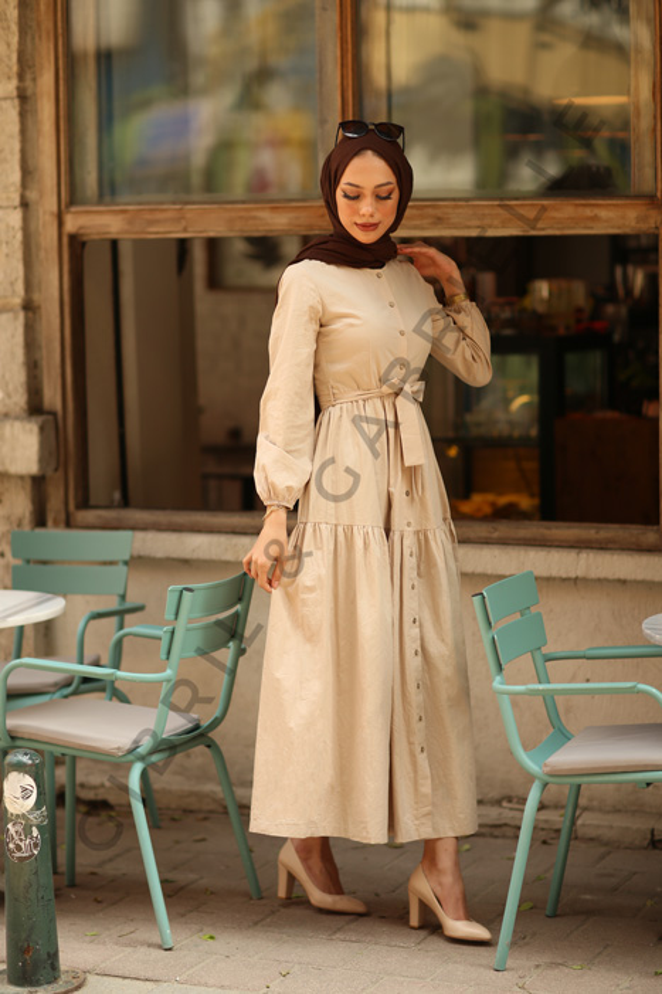 Nilay Dress - Beige
