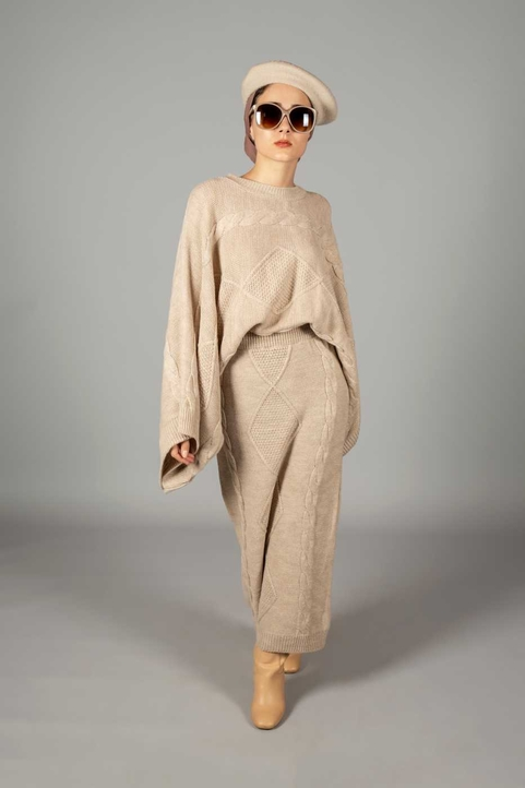 Nina Co-ord Set Beige