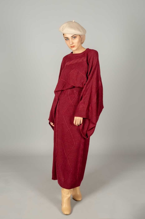 Nina Co-ord Set Burgundy