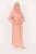 Nour Salmon Dress - Thumbnail