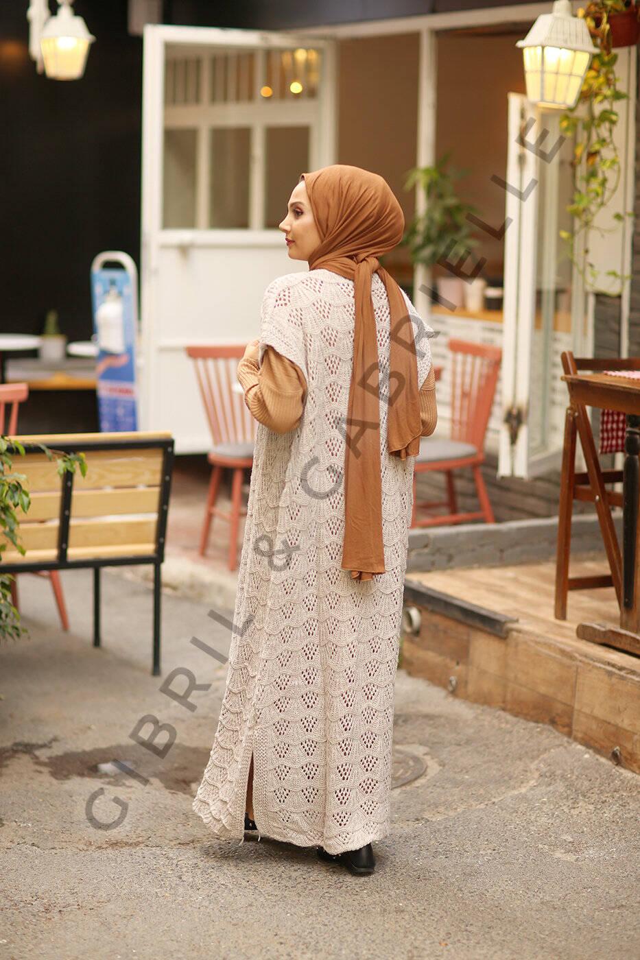 Nourhane Knit Cardigan - Stone