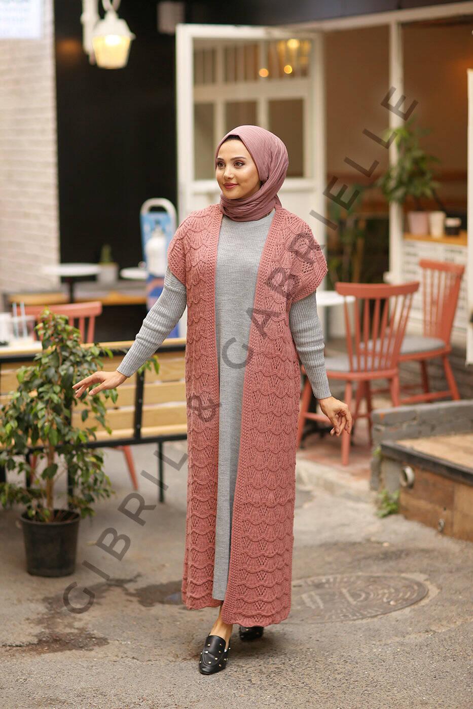 Gibril & Gabrielle - Nourhane Knit Cardigan - Old Pink
