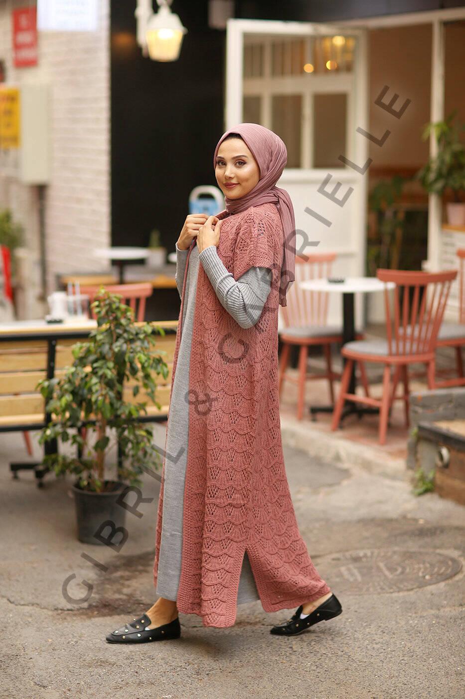 Nourhane Knit Cardigan - Old Pink