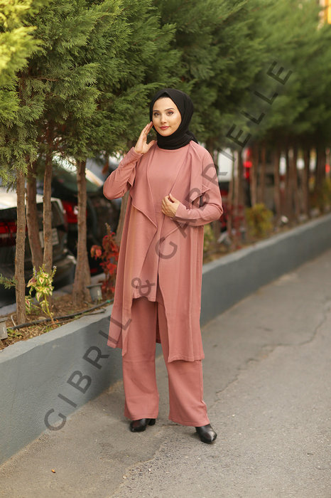Gibril & Gabrielle - Old Pink Talya 3 piece Co-ord Knit Set