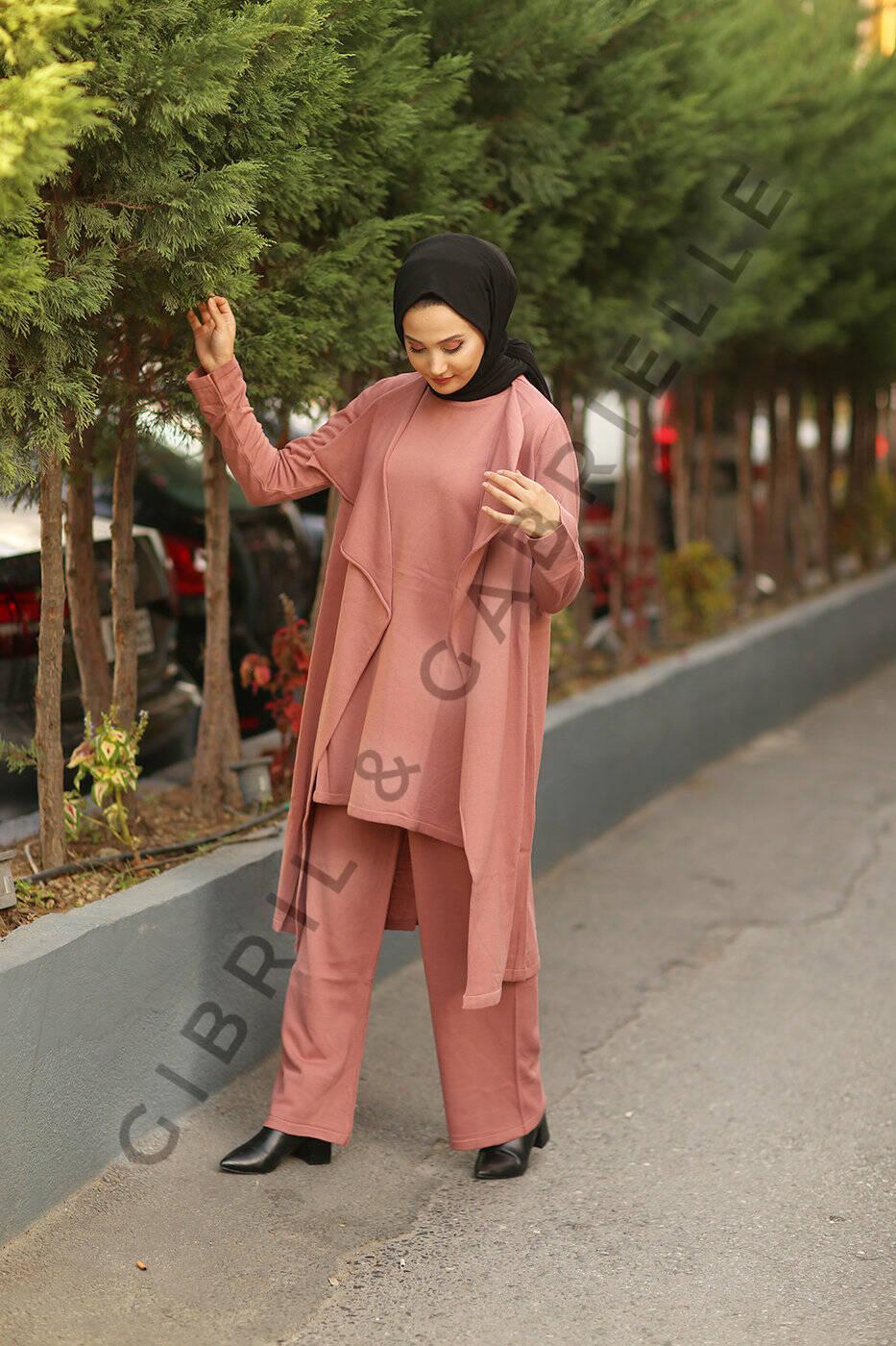 Old Pink Talya 3 piece Co-ord Knit Set