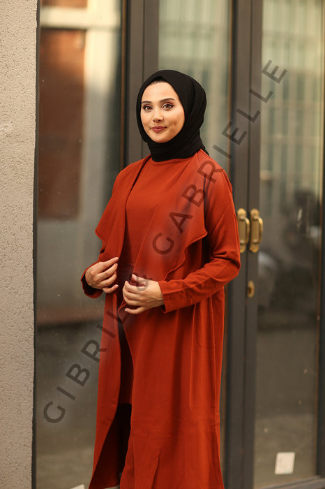 Rust Talya 3 pieces Co-ord Knit Set
