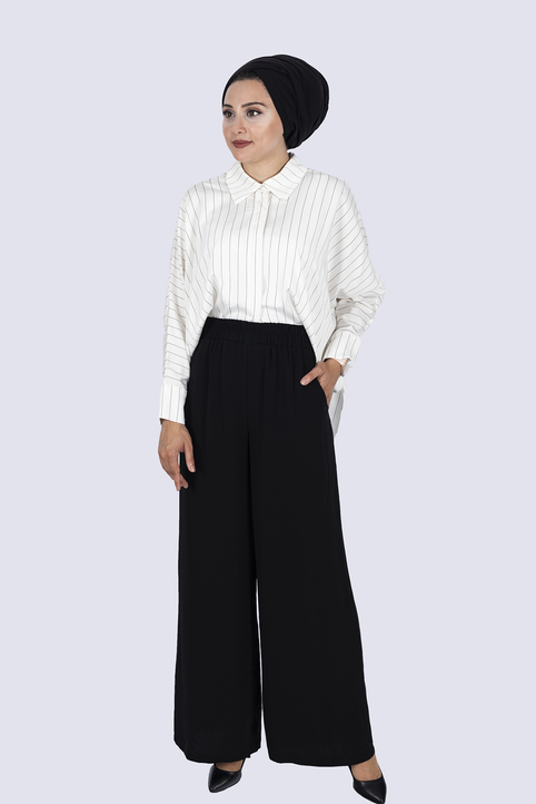 Gibril & Gabrielle - Palazzo Trousers - Black
