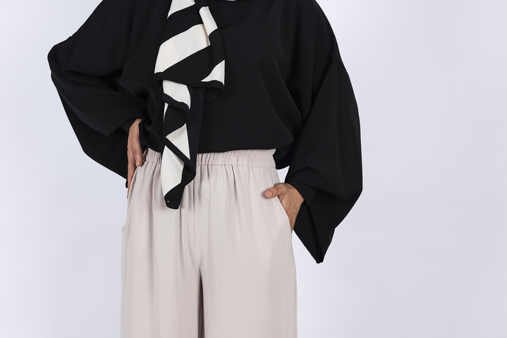 Palazzo Trousers - Misk Grey