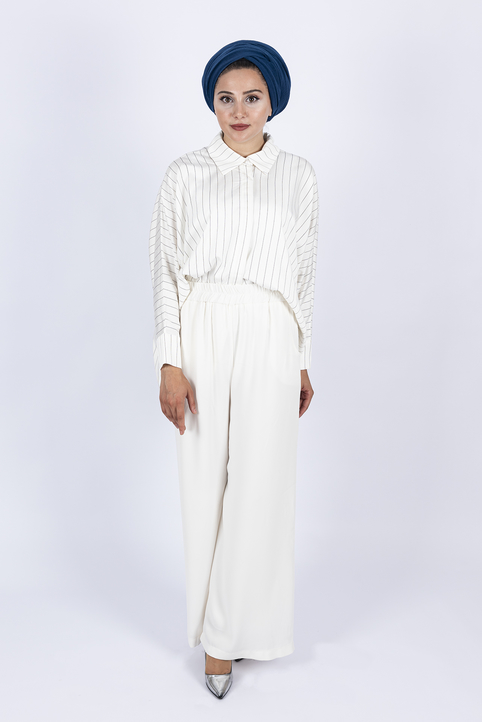 Gibril & Gabrielle - Palazzo Trousers - White