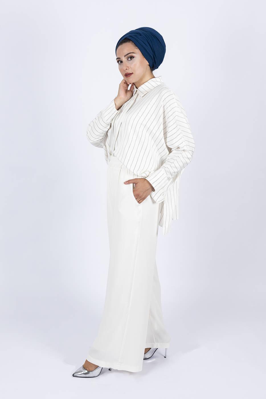 Palazzo Trousers - White