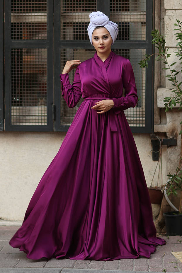 Gibril & Gabrielle - Plum Mennel Dress