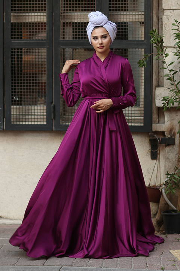 Gibril & Gabrielle - Plum Mennel Dress