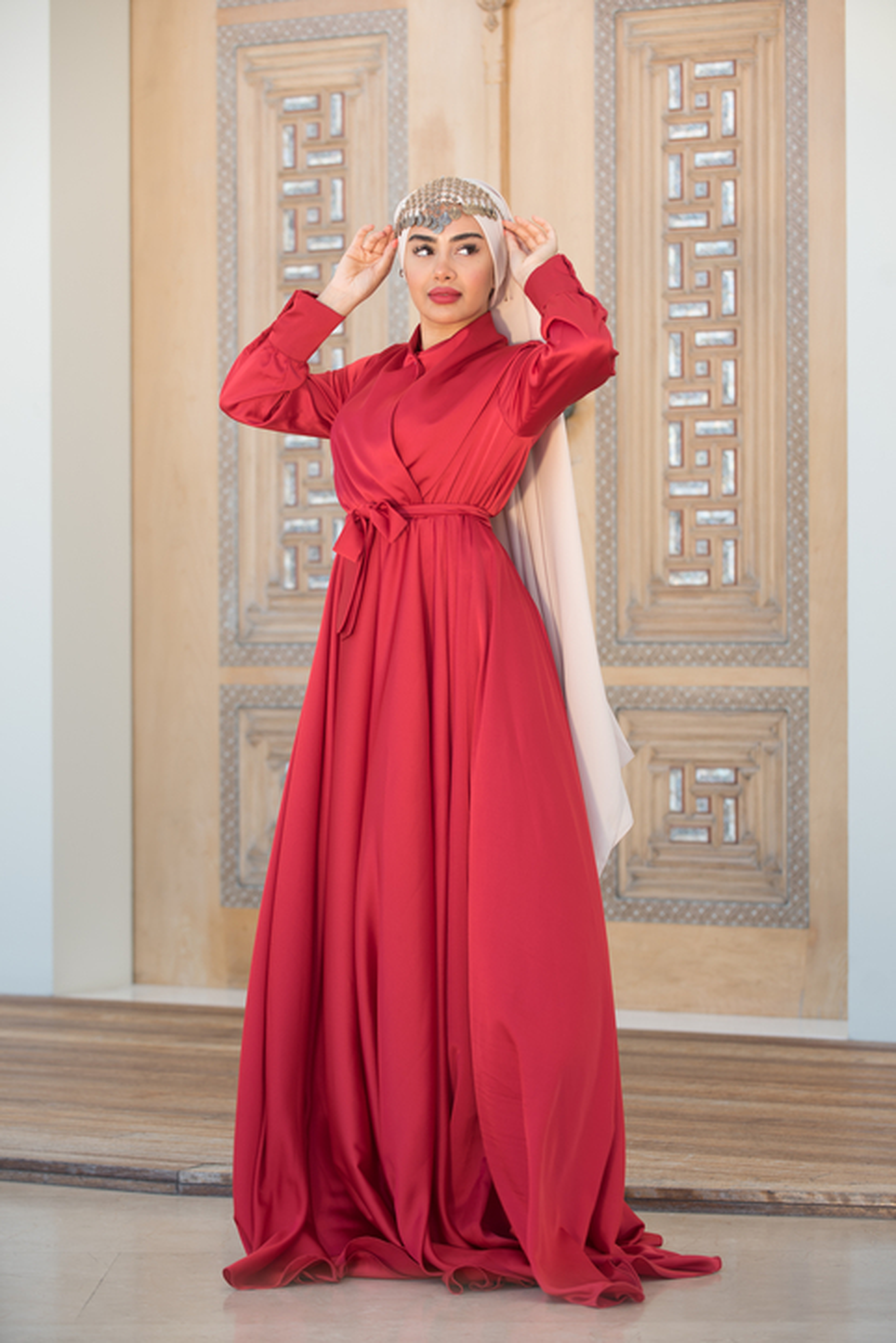 Red Mennel Dress