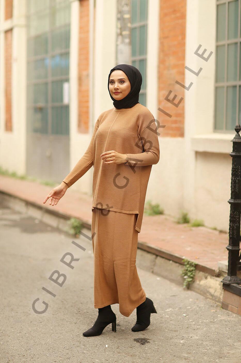Gibril & Gabrielle - Selena Knit Suit - Camel