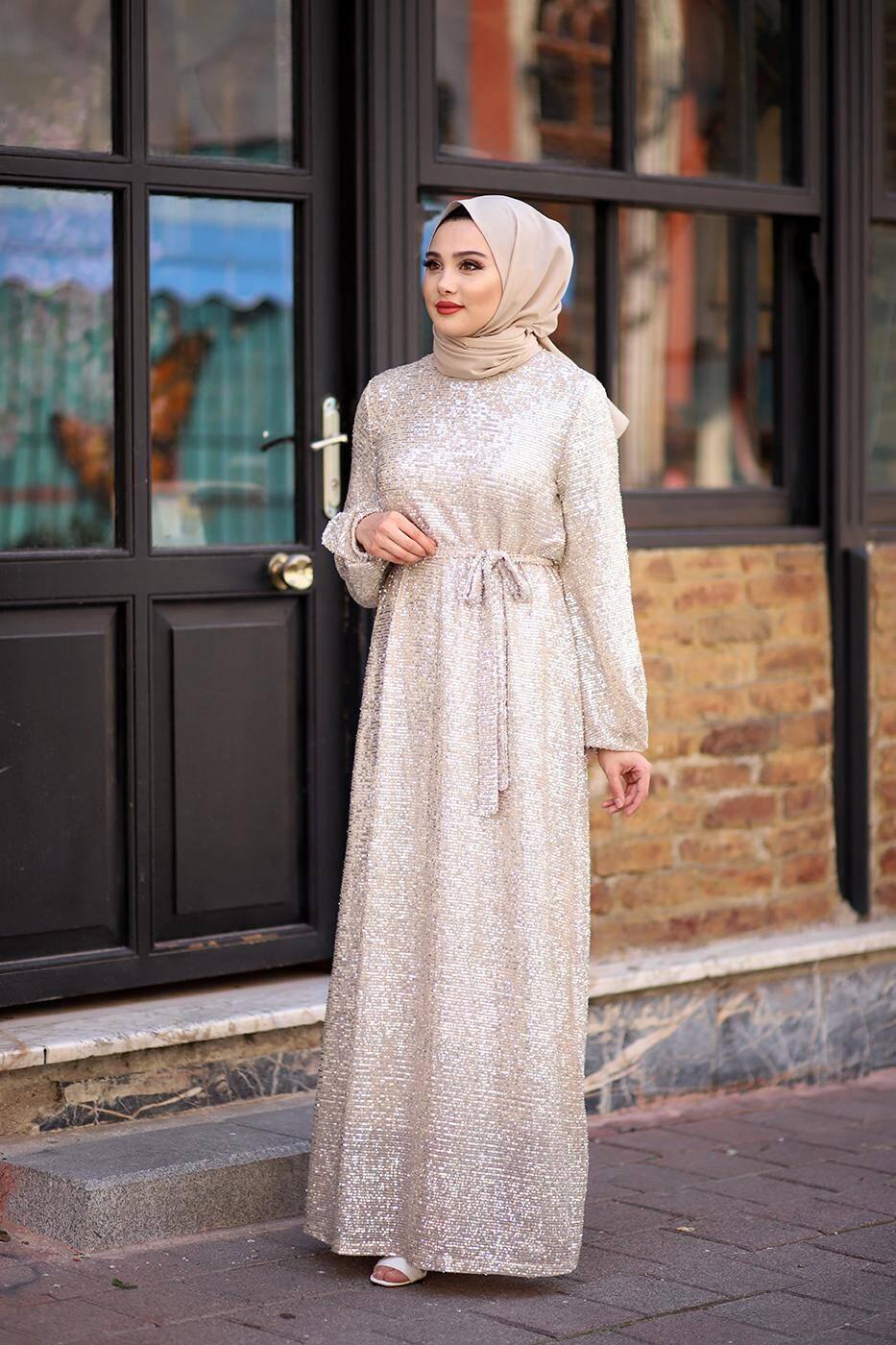 Gibril & Gabrielle - Sequined Dress - Beige