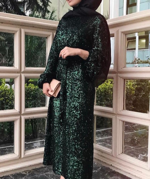 Sequined Dress - Green