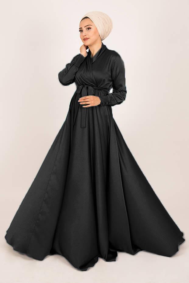 Gibril & Gabrielle - Siyah Mennel Elbise