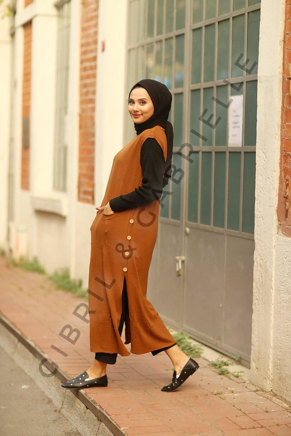 Sleeveless Knit Dress/Tunique Arya- Camel