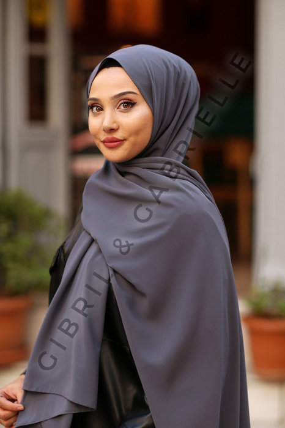 Gibril & Gabrielle - Madina Silk Hijab - Smoke