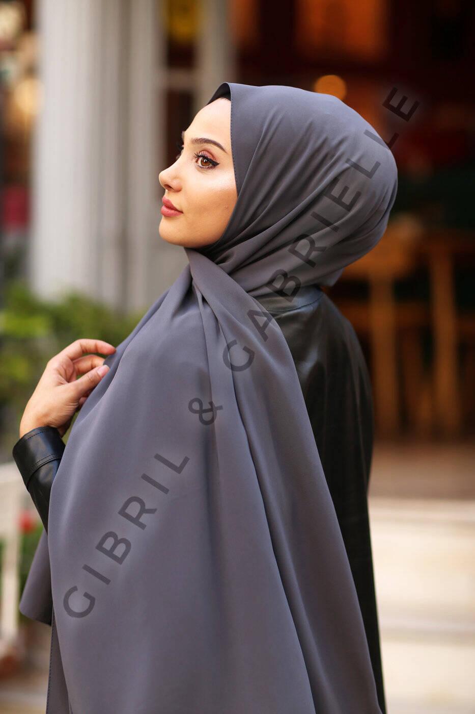 Madina Silk Hijab - Smoke