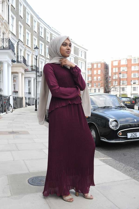 Gibril & Gabrielle - Sofia Dress Burgundy
