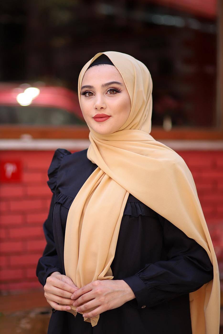 Gibril & Gabrielle - Soft Crepe Hijab Camel