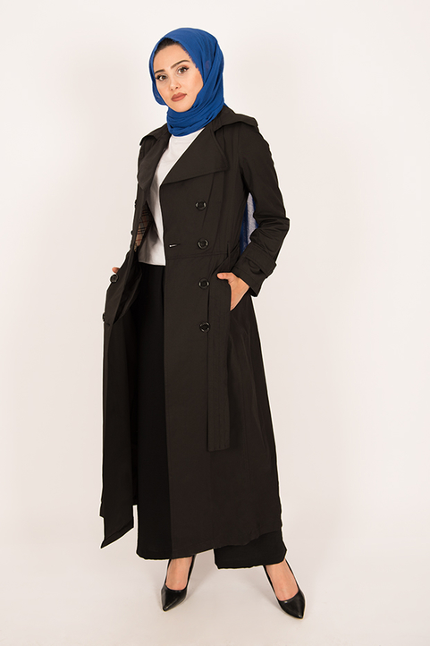 Gibril & Gabrielle - Trench Coat Black