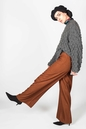 Zahra Trousers Brown - Thumbnail