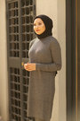 Zainab Knit Suit - Anthracite - Thumbnail