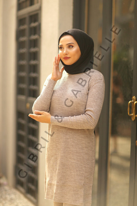 Zainab Knit Suit - Nude