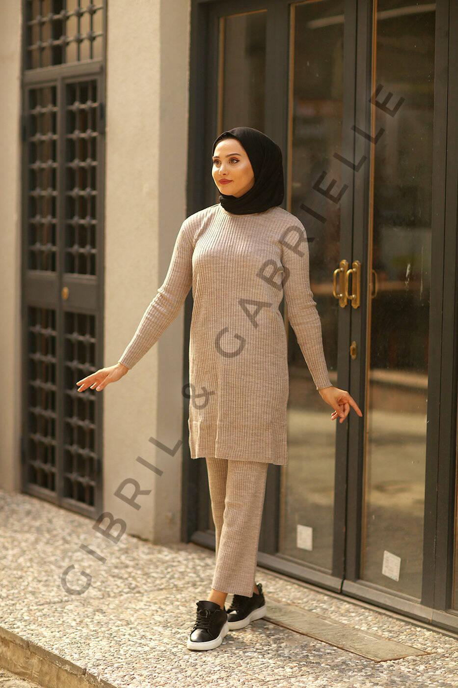 Gibril & Gabrielle - Zainab Taş Rengi Triko Takım